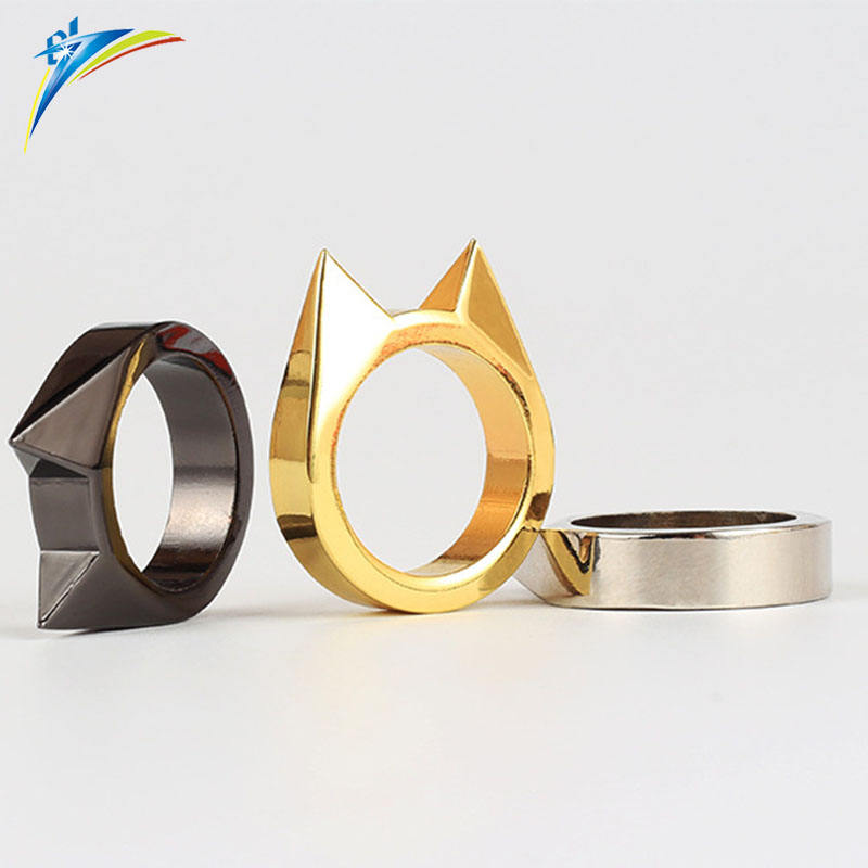 2019 gold cat ear body ring multi tools knuckle ring outdoor supplies
