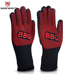Custom 662F extreme Heat Resistant cotton BBQ Gloves Supplier