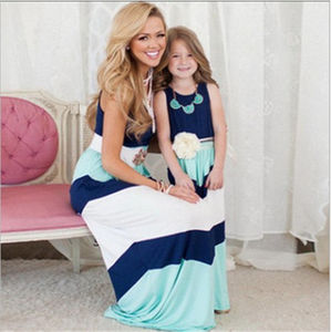 Maicaini 1 Hit Big Colour Stitching Spring And Summer Women's Dresses Parent-child Clothing