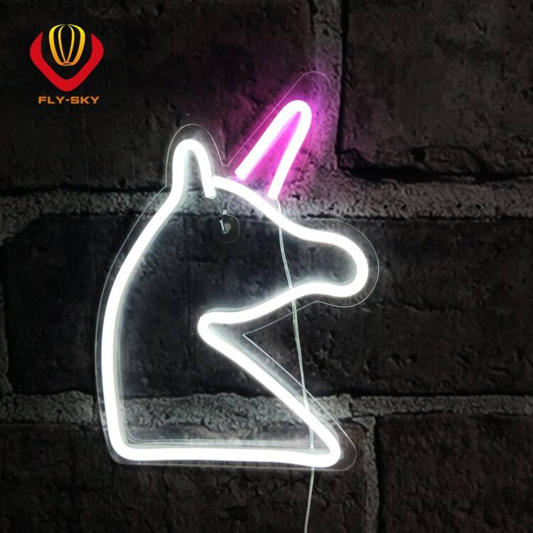New design can customizable Back panel led neon sign power by adapter or USB cord for home store party decoration