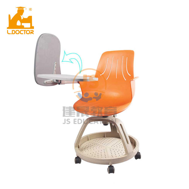 Modern high quality Plastic Adjustable school chair with tablet