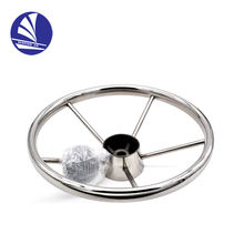 S.S.316 Marine Stainless Steel Boat Steering Wheel 5 Spoke With Knob yacht accessories