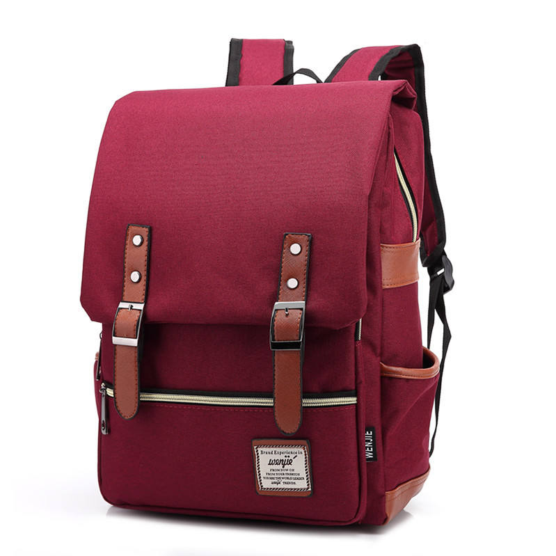2019 New Design Water Resistant Canvas Backpack 16Inch Laptop Backpacks With Fashion Shoulder Bag Rucksack For Men And Women