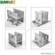 China factory mounting structure brackets aluminium racking system