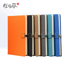 Customized label with buckle and leather surface Notebook