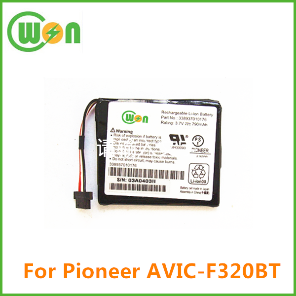 Rechargeable battery for Pioneer AVIC-F310BT 790mAh Li-Ion