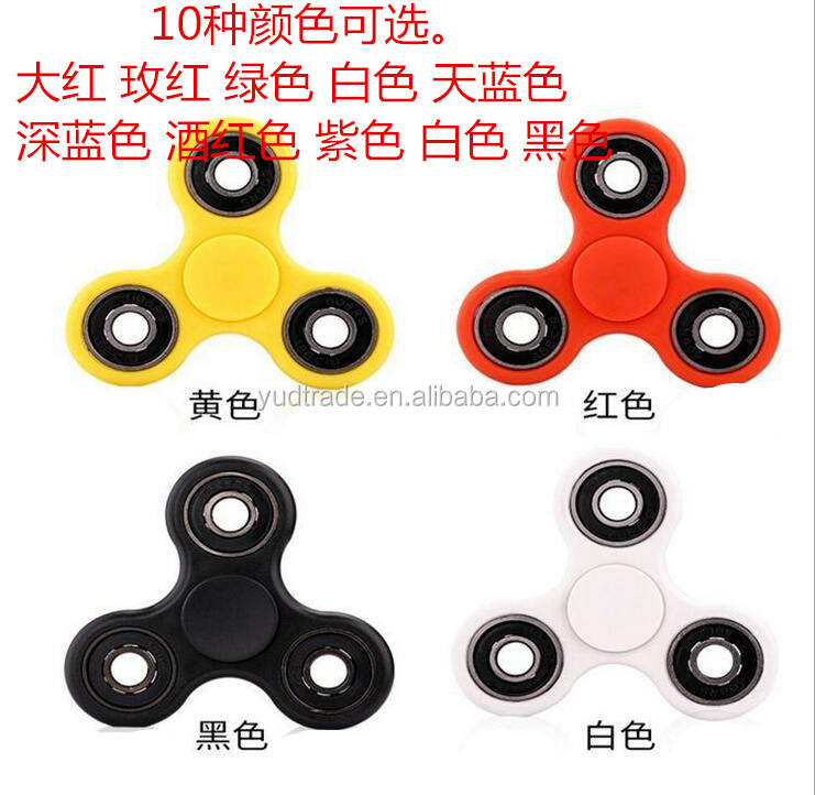 Rotation Time Long Wholesale plastic fidget spinner EDC Tri finger spinner toy hand spinner toys