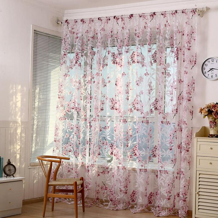 Finished products agent custom burnout sheer curtain window wholesale and retail
