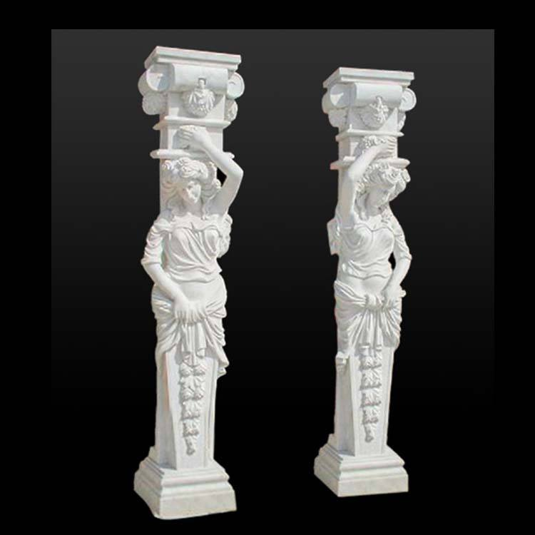 Decorative natural stone garden marble column for sales