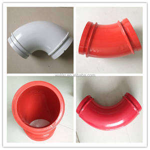 DN125 optional color customizable seamless elbow for concrete