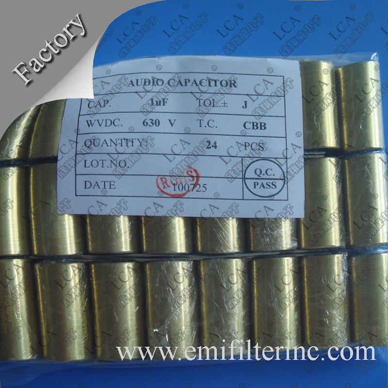 0.047uF--100uF Copper golden Tube Capacitor