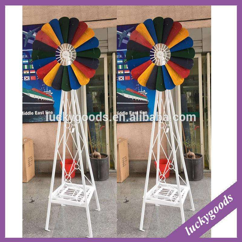 garden decoration metal decorative windmill wholesale