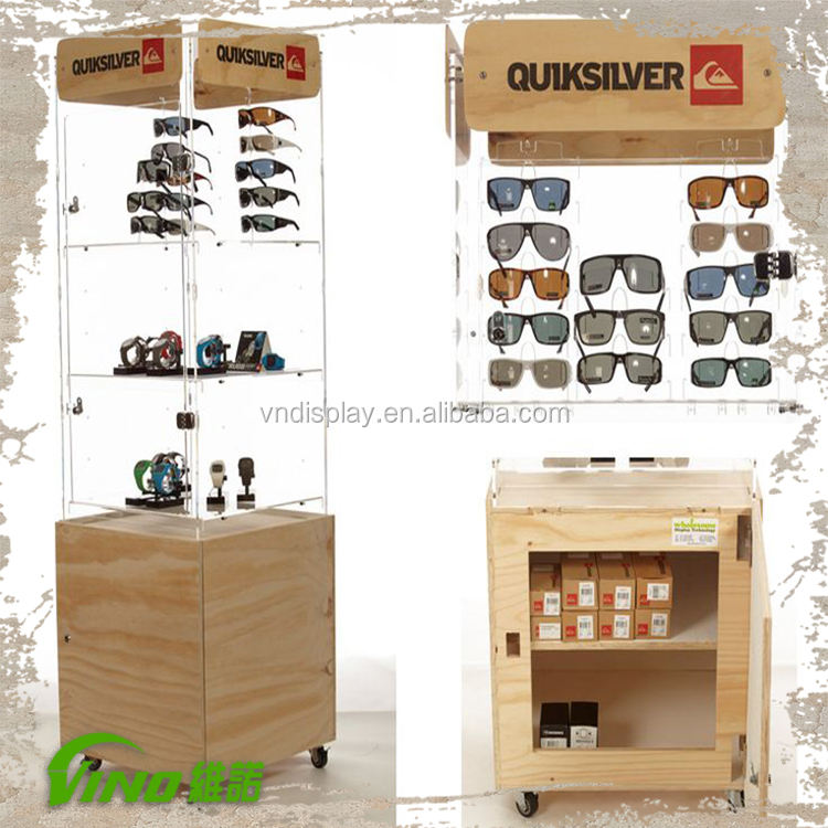 Eyewear Display Stands, Wooden Sunglasses Stand, Sunglasses Display Rack