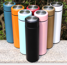 Logo Customized 500ml Stainless Steel Vacuum Flask   Water Bottle Sports Thermos