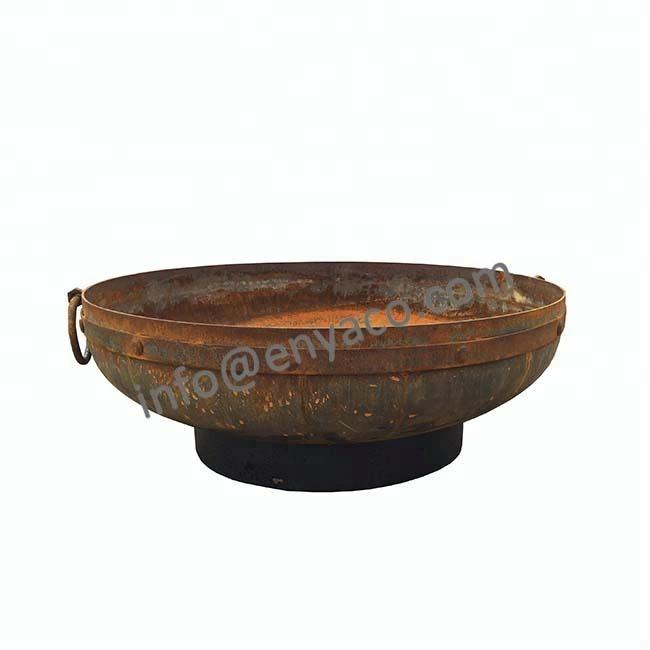 Iron Metal Type Rustic Outdoor Garden India Kadai Fire Pit Bowl