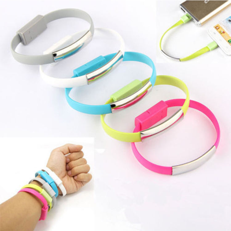 Less than $1 gift mini usb charger usb cable bracelet mobile phone accessories and gadgets