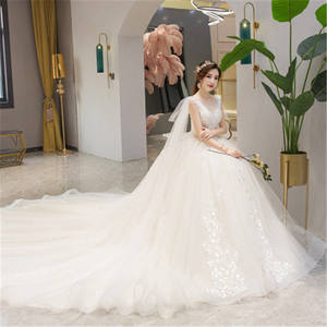2019 New Elegant Bridal Wedding Dress for Summer Beach Bridal dress fabric
