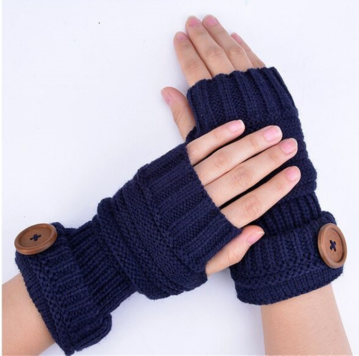 2019 New christmas gift knit warm fingerless thick women winter gloves