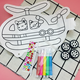 New design fancy intellectual development creative baby painting and drawing DIY graffiti inflatable toy