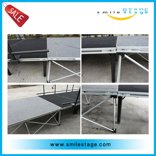 China big manufacturer portable stage ramp/metal structure for stage
