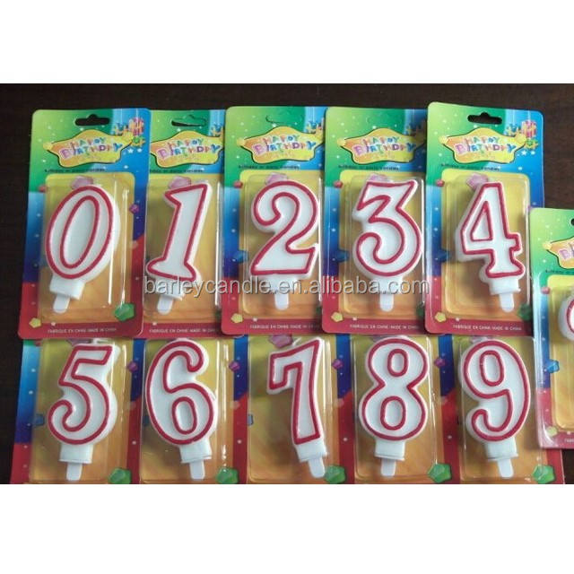 Barley Brand Factory Colorful Digital Number Birthday Cake Candles