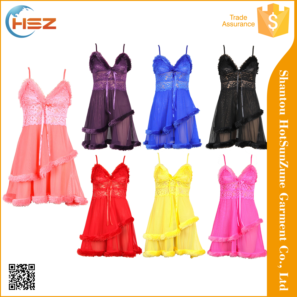 HSZ-502# Sexy see-through lace evening dress see through bottom evening dress new design night dress 2013