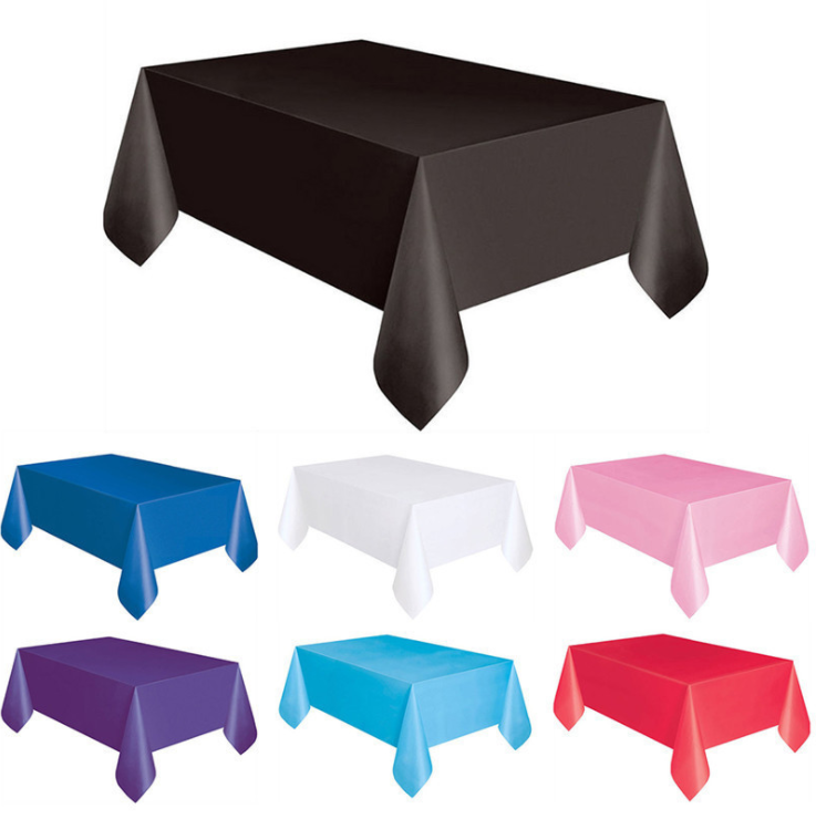 Hot selling products luxury party table cloth plastic disposable table cloths