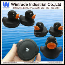 Black rubber duck squeaky soft duck