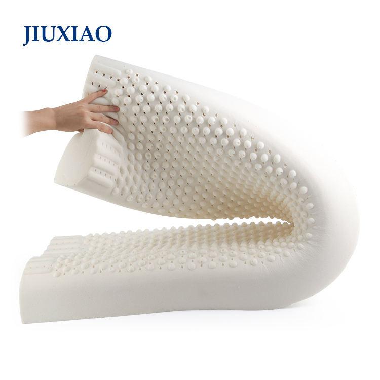 Benutzerdefinierte kissen hersteller super soft natürliche latex nackenstütze extra lange nackenrolle
