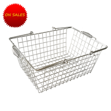 Makeup metal wire mesh shopping basket for supermarket/retail store