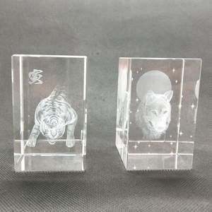 Fabrik verkauf blank kristallwürfel 3d laser tier kristall cube 3d lasergravur geschenke