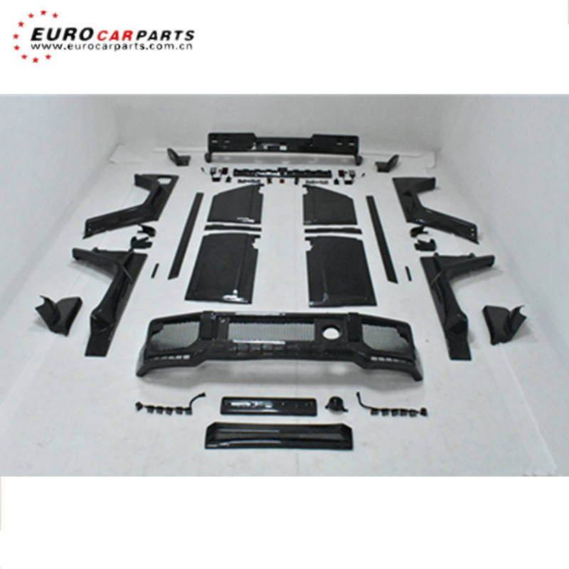 G class carbon fiber full set body kit for G class w463 G350 G400 G500 G55 G63 G65 B style carbon fiber bumpers over fenders