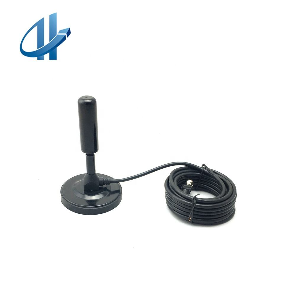 Factory Price Digital DVB-T Active VHF/UHF Antenna With F & IEC Connector RG174 Cable 3M 5M