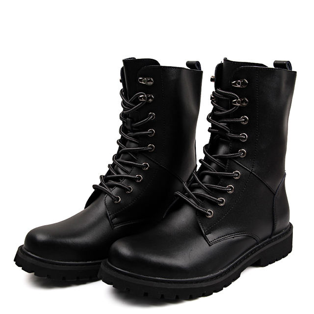 Military Combat Boots for Men Ankle Tactical Boots Leather Lace Up Army Working Outdoor Desert Boots Shoes