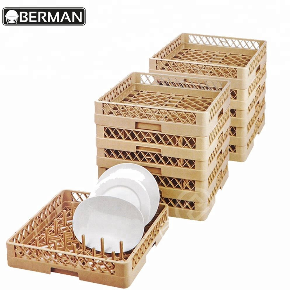 Guangzhou berman compartment restaurant kitchen plastic drinking beer cup glass storage plates display rack