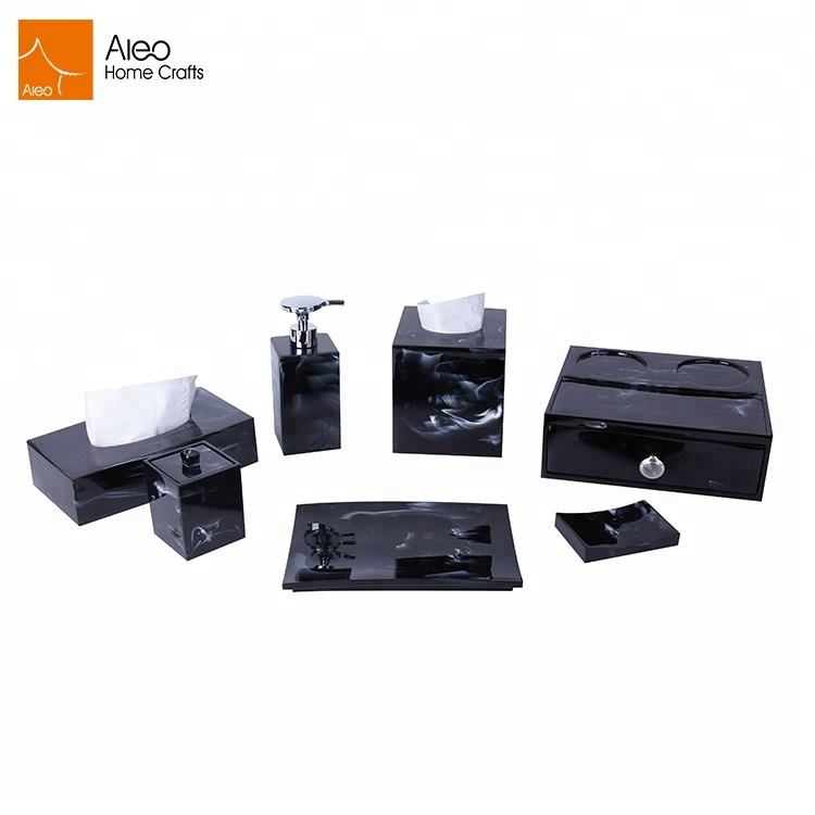 Factory supply new marble accessory polyresin 5star hotel bathroom set