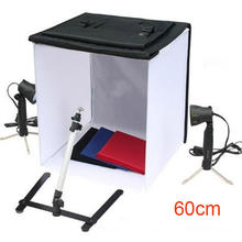 "product photography Studio Light Tent Kit 60X60cm 23"" Portable Photo box set"