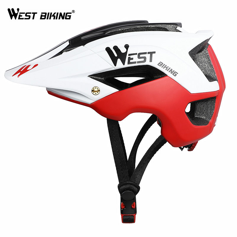WEST BIKING Mountain Bike Helmet Bike MTB Road/Racing Foray Fraction Bicycle Carbon Helmet Riding Equipment Visor Cycle Helmet