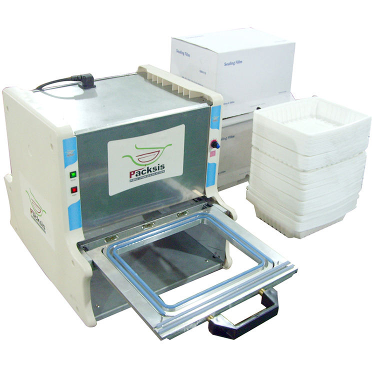 manual South korea imported food tray sealing machine