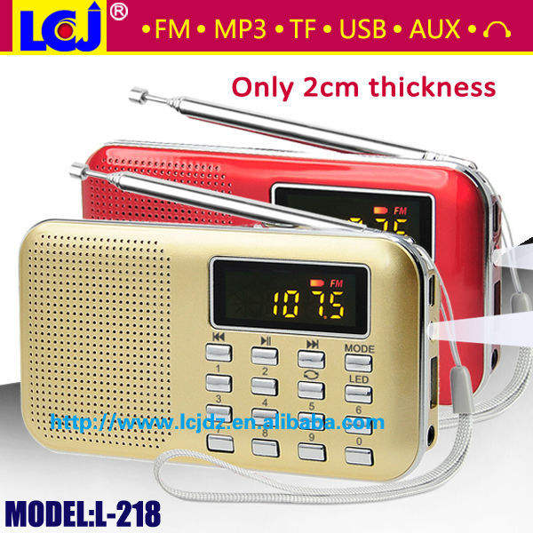 L-218 usb sd mp3 player com rádio fm, mini rádio fm mp3 player