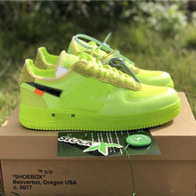 2019 New Arrivals Forces Volt Running Shoes Women Mens Trainers Forced One Sports Skateboard Classic 1 Green shoes
