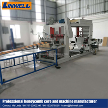 Honeycomb gluing machine from Linwell manufacturer glue machine gluing machine