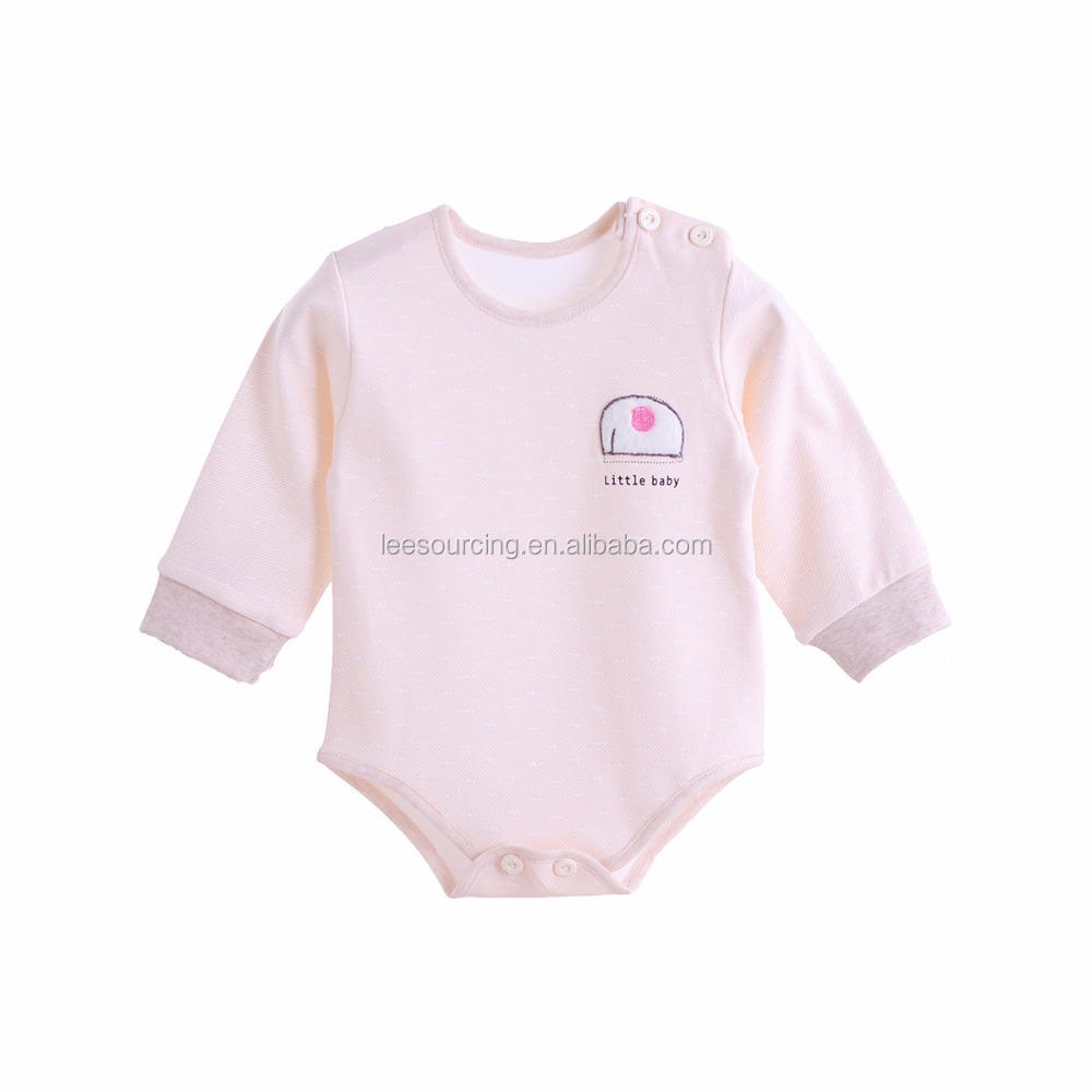 Leesourcing High quality long sleeve infant and toddler baby clothes bodysuit organic cotton