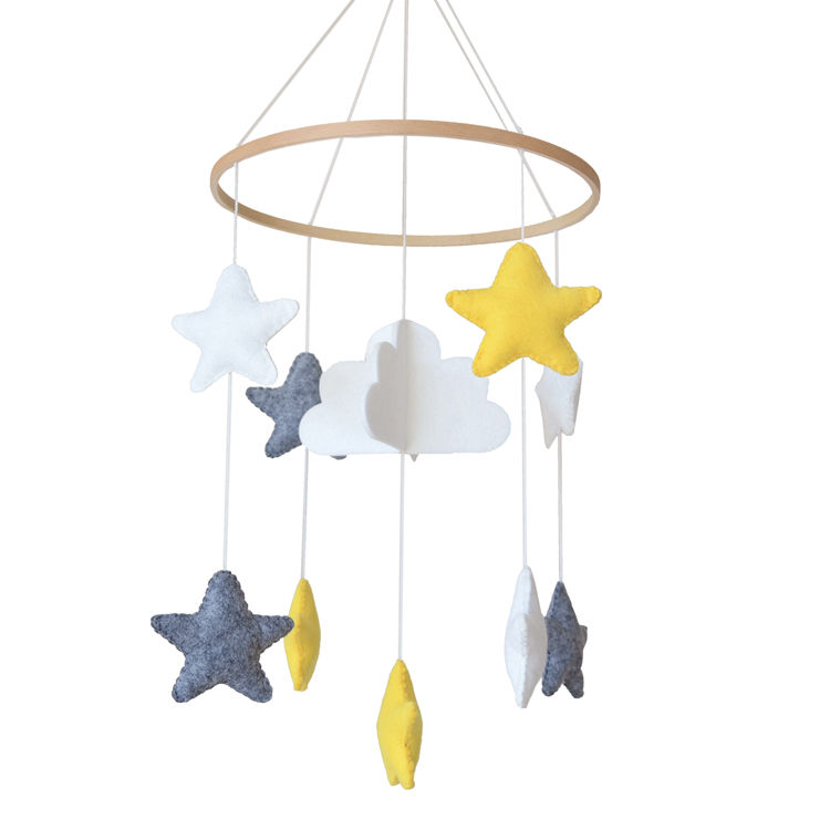 Custom home stars decorations nordic gift baby newborn toy wool felt hanging nursery mobile