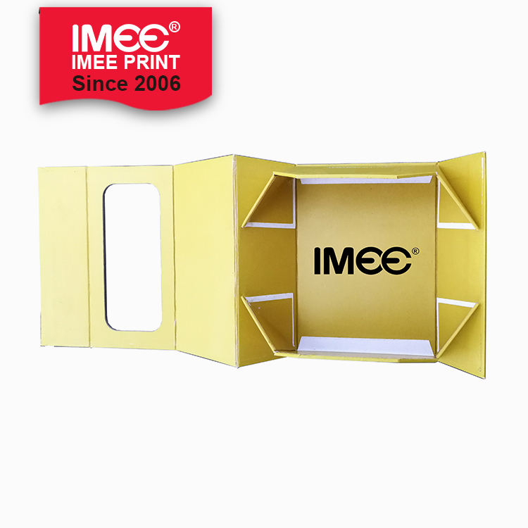 IMEE ODM OEM Flatten Foldable Folding Collapsible Cardboard Paper Gift Storage Box