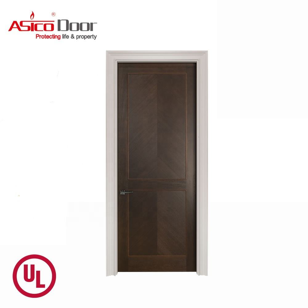 ASICO UL Listed Wood Fire Rated Timber Hotel Door For Commercial