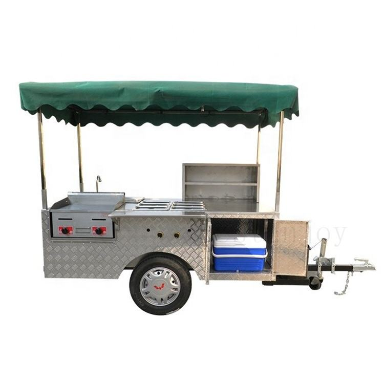 Snack Concession Hot Dog Mobile Crepe Potato Icecream Fryer Food Small Outdoor Sweet Hotdog Cart