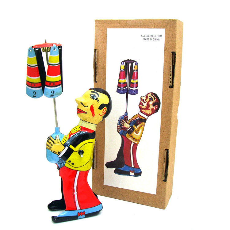 vintage tin robot toys Vintage styles tin toys rolling umbrella man for gift