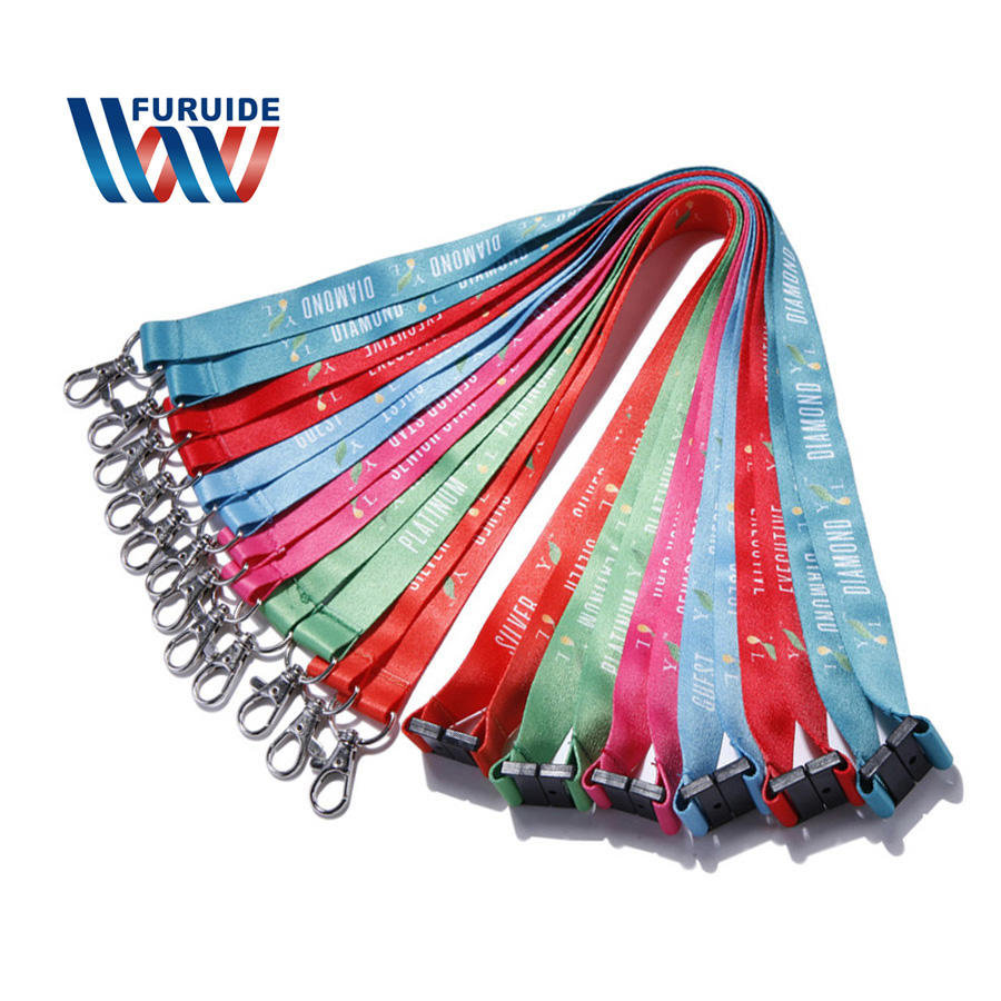 Multi color neck strap lanyard with ID badge holders