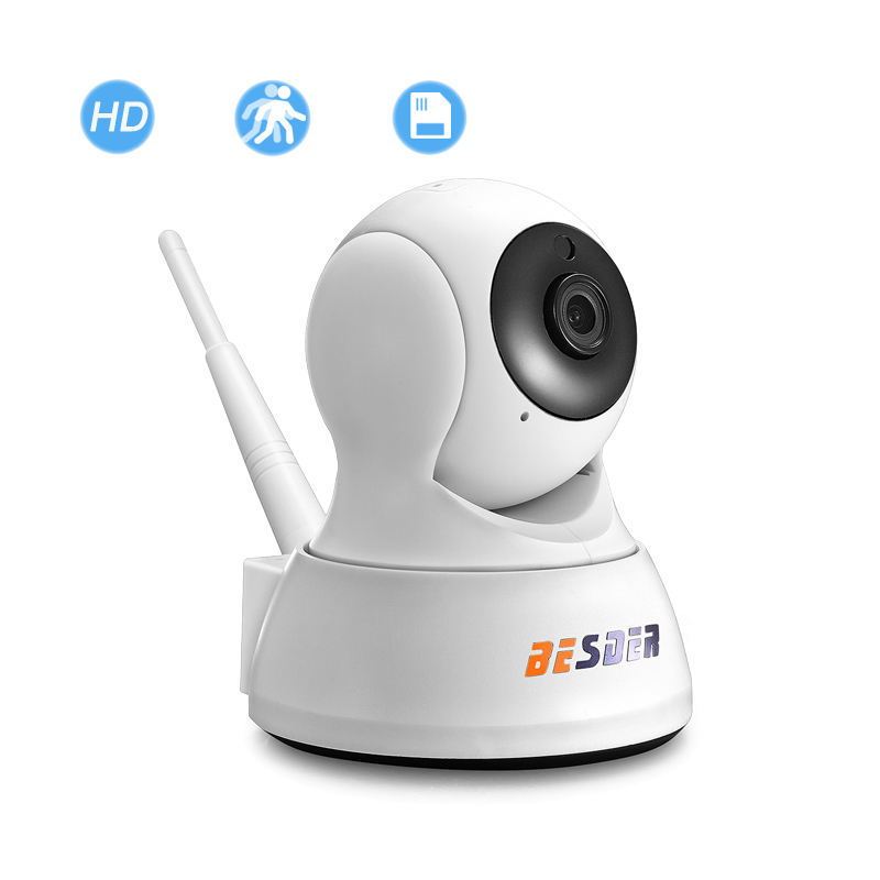 BESDER HD 720P Wifi IP CCTV Security Camera 1MP Wireless Home Security Camera IP Motion Detection Web Browser Remote Viewing
